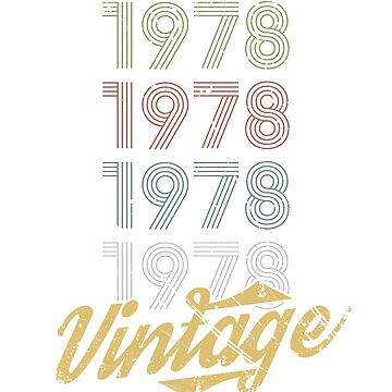 40th birthday gift T-shirt vintage by Diana-rose