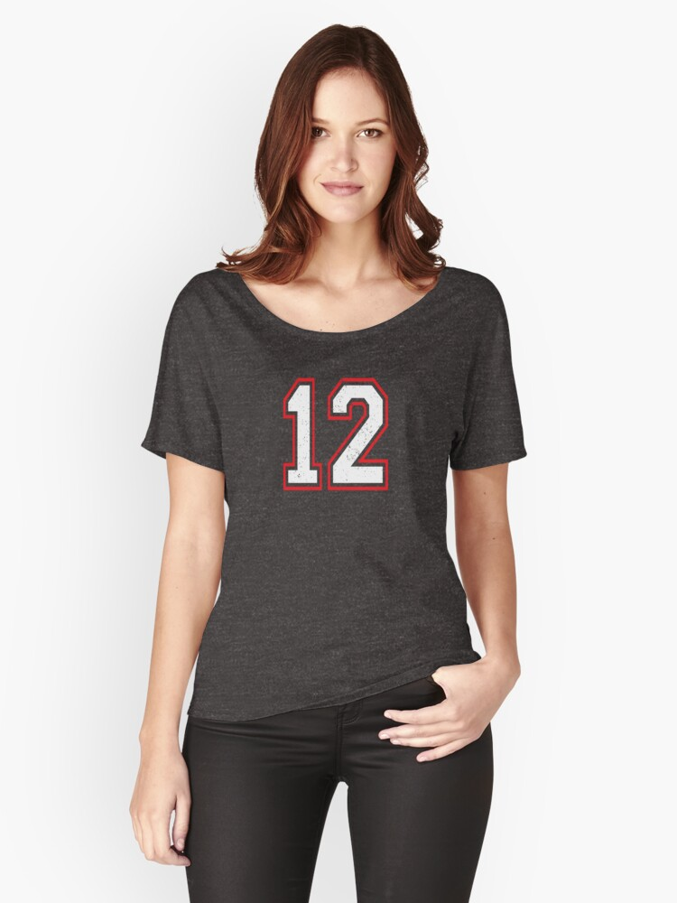 Number 12  Women's Relaxed Fit T-Shirt Front