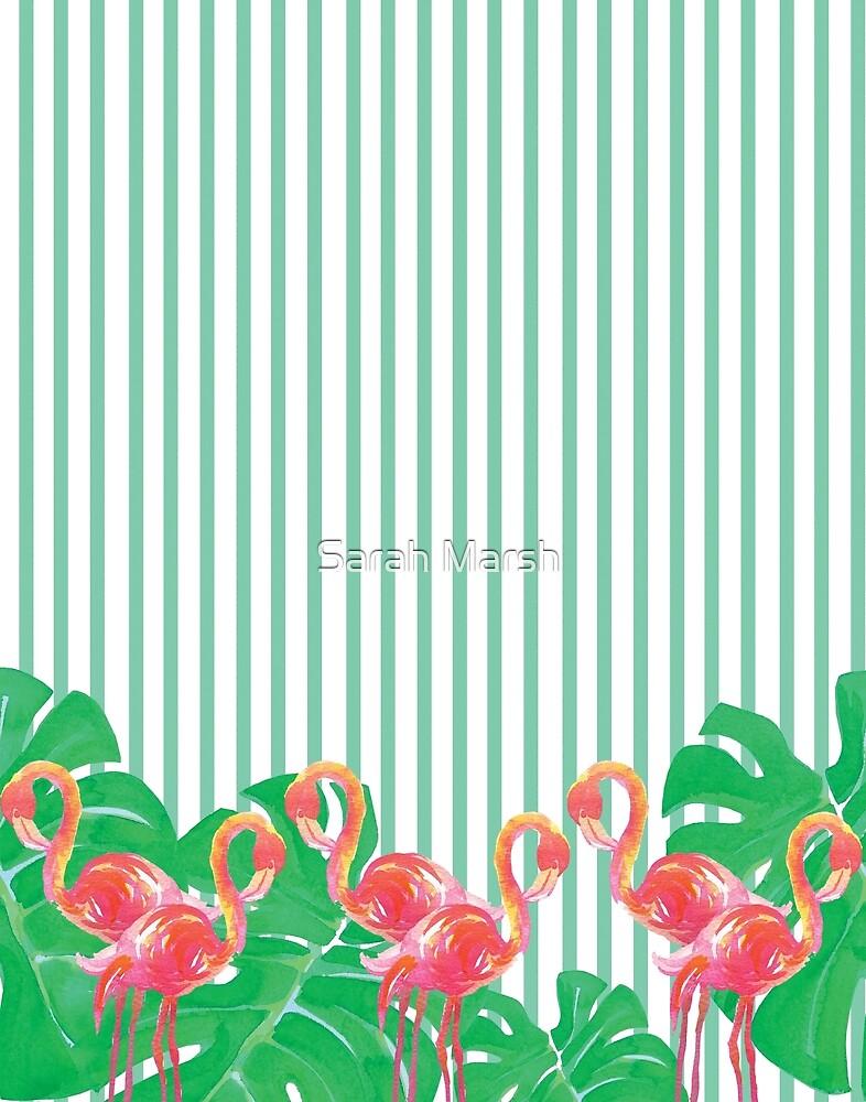 Stripes and Flamingos by sarahmarsh1234