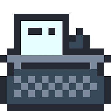 Pixel Art Typewriter by Stridden