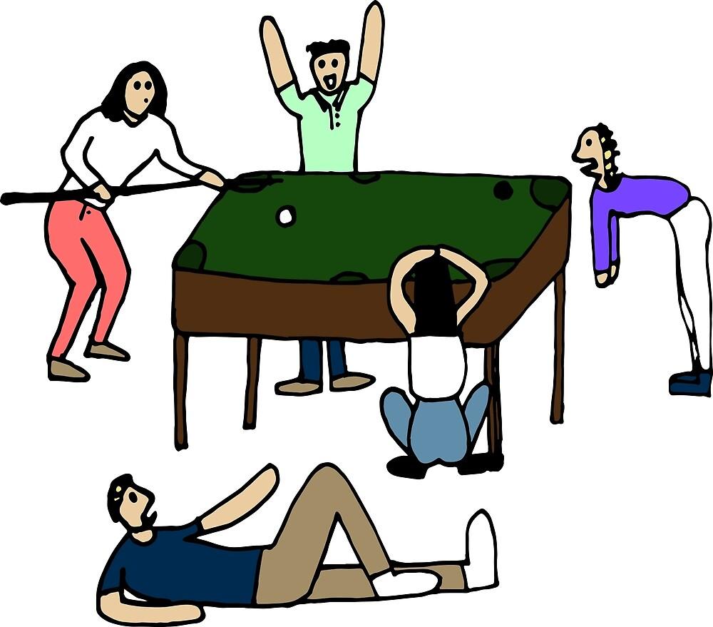 Billiards Match by clairobins