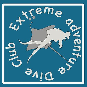 Extreme Adventure Dive Club Scuba Blue Ocean T-shirt by Picart13