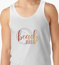 Funny beach quote volleyball Tank Top