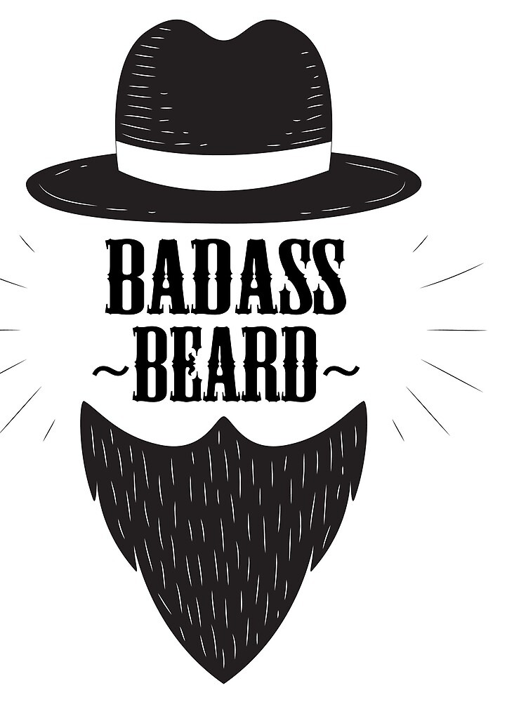 Beard Badass Hat Cool by EdoFra