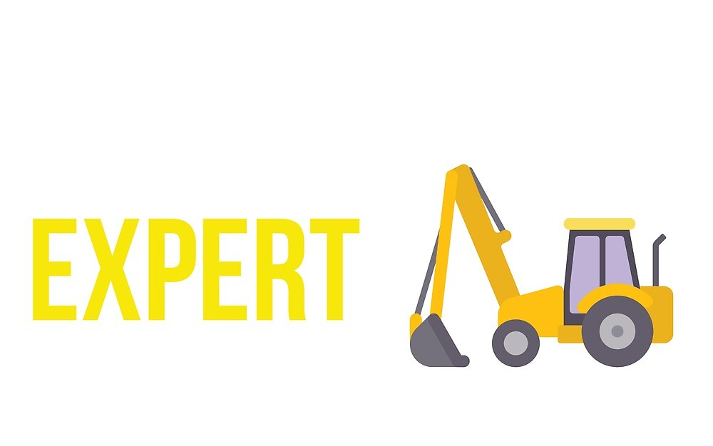 Excavator yellow expert by EdoFra