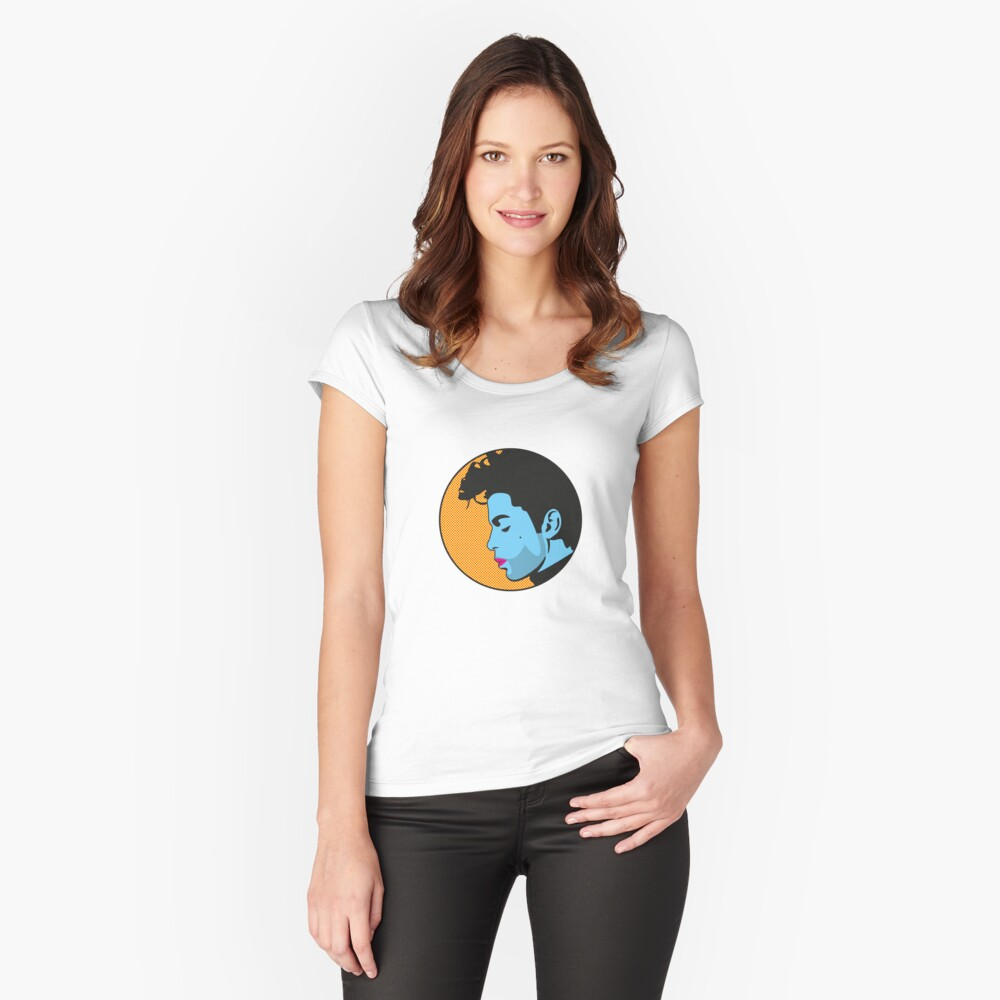 Daddy Pop 2 Women's Fitted Scoop T-Shirt Front