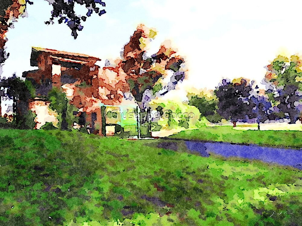 Rome: park with ancient building by Giuseppe Cocco