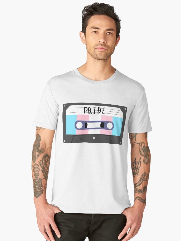 Trans - Pride Tape Men's Premium T-Shirt Front