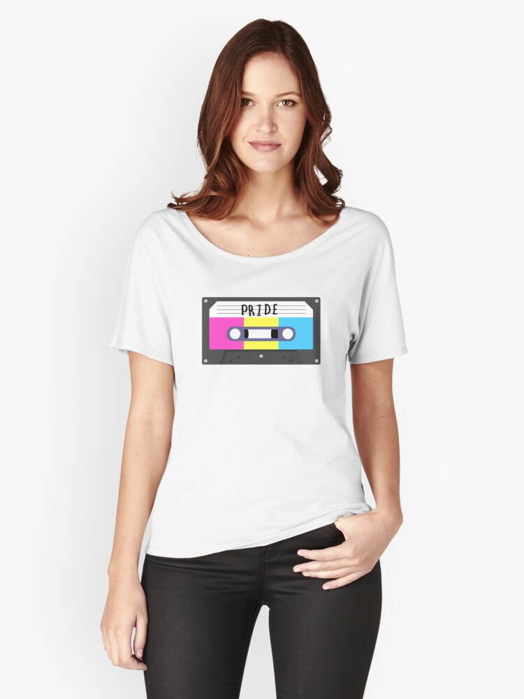 Pan - Pride Tape Women's Relaxed Fit T-Shirt Front