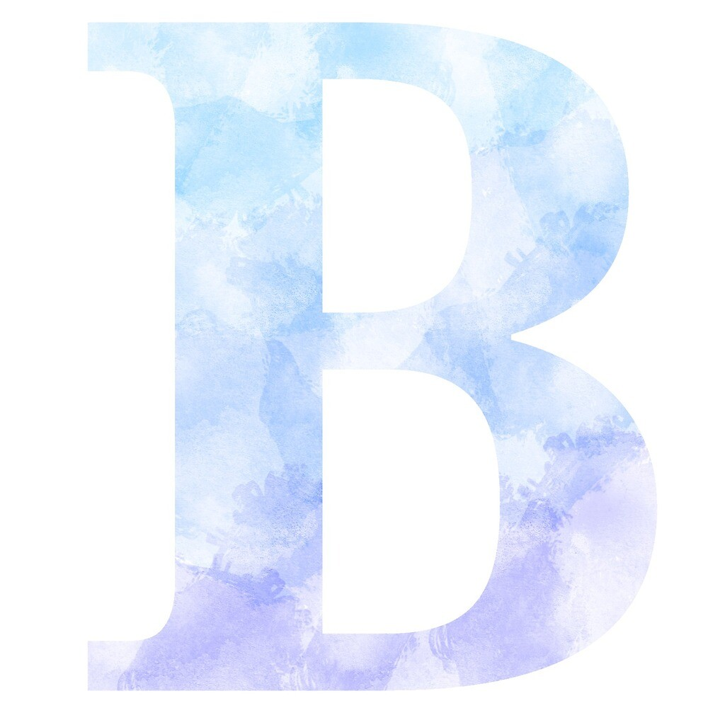 Letter B - Blue by gaman