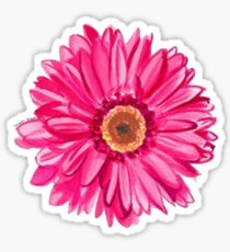 hot pink daisy Sticker