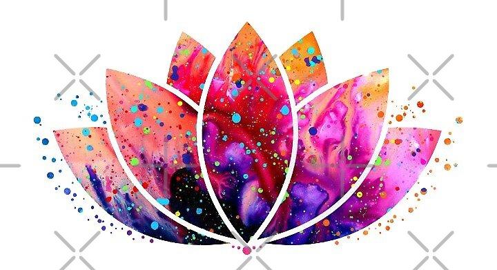 rainbow lotus by stickersnstuff