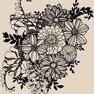 Ink Flowers ColorMe! Doodle by OpenArtStudio