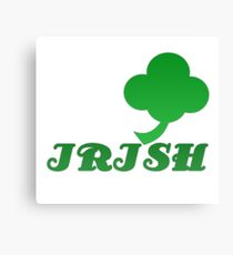 Lucky Irish Green Four Leaf Clover Canvas Print