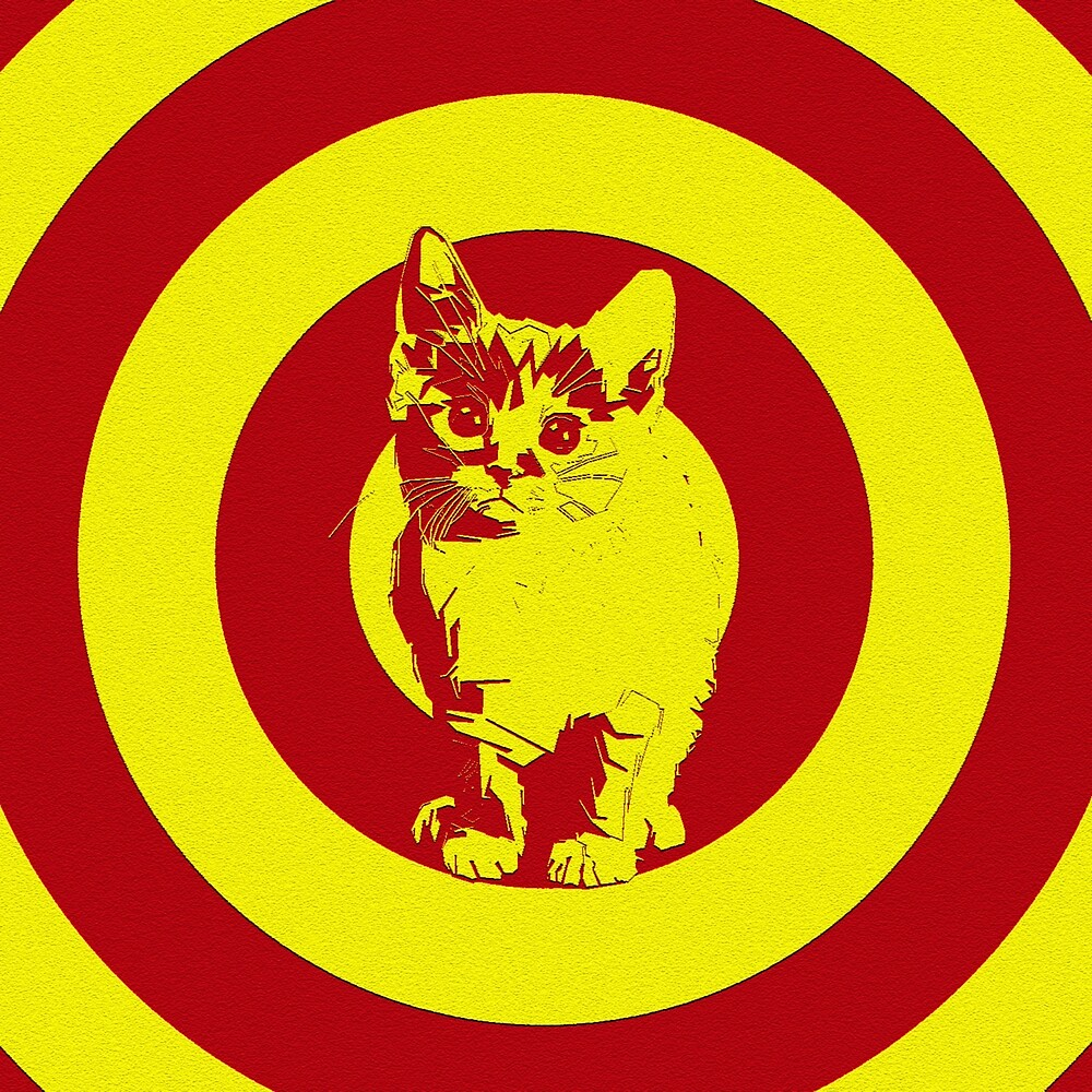 Circle red yellow cat by Cristopher Ponso