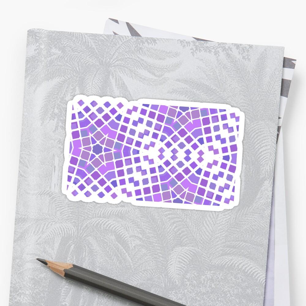 Pegatinas «color abstracto semitono plantilla repetición púrpura ...