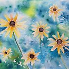 Black Eyed Susan Watercolor Painting by Sandra Connelly