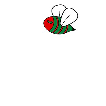 "Oh Christmas Bee Oh Christmas Bee Funny Red and Green Buzzing Bee T-Shirt Gift: ""Oh Christmas Bee"" 