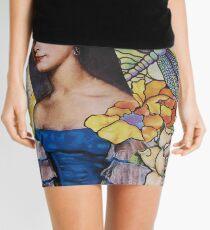 Portrait In Blue Mini Skirt