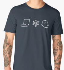 Paper. Snow. A Ghost! Men's Premium T-Shirt