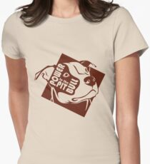 Power to the Pit Bull Womens Fitted T-Shirt