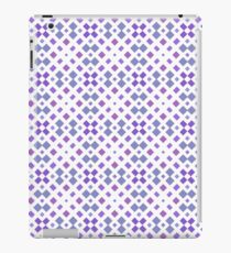 diagonal geometrical tile textured vector ornament seamless colorful repeat pattern iPad Case/Skin