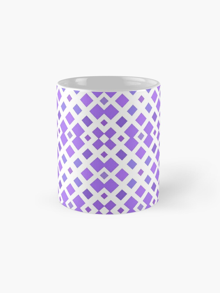 Alternate view of halftone textured graphical print textile diagonal weave template geometric motif simple tiling seamless colorful repeat pattern Mug