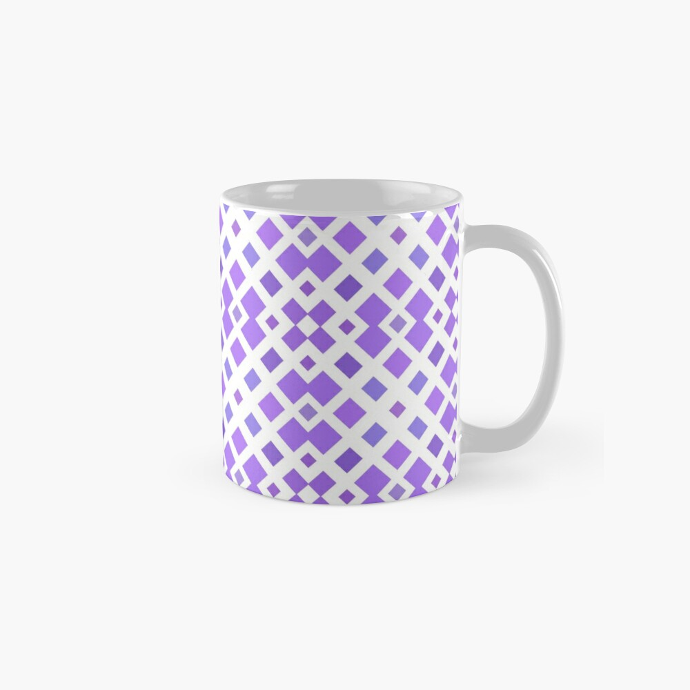 halftone textured graphical print textile diagonal weave template geometric motif simple tiling seamless colorful repeat pattern Mug
