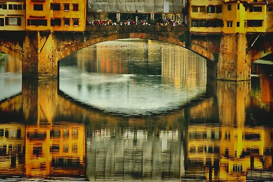 Ponte Vecchio Reflections by Barbara  Brown