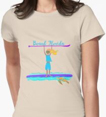Paddleboarding Board Florida  Women's Fitted T-Shirt