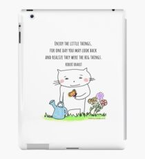 Enjoy the little things... life quote / cat doodle iPad Case/Skin