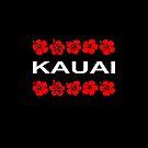 Kauai Red Flower Bands Color Dark by TinyStarAmerica