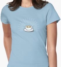 Latte Womens Fitted T-Shirt