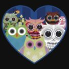 Love Owls 2 (Black) by Adam Santana
