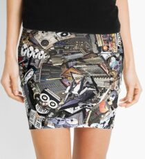 Analogue Technodelic, Sound Engineering Collage Mini Skirt
