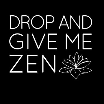 Yoga Drop and Give Me Zen by SpoonKirk
