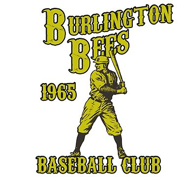 BURLINGTON BEES VINTAGE BASEBALL CLUB DEFUNCT by Parispride