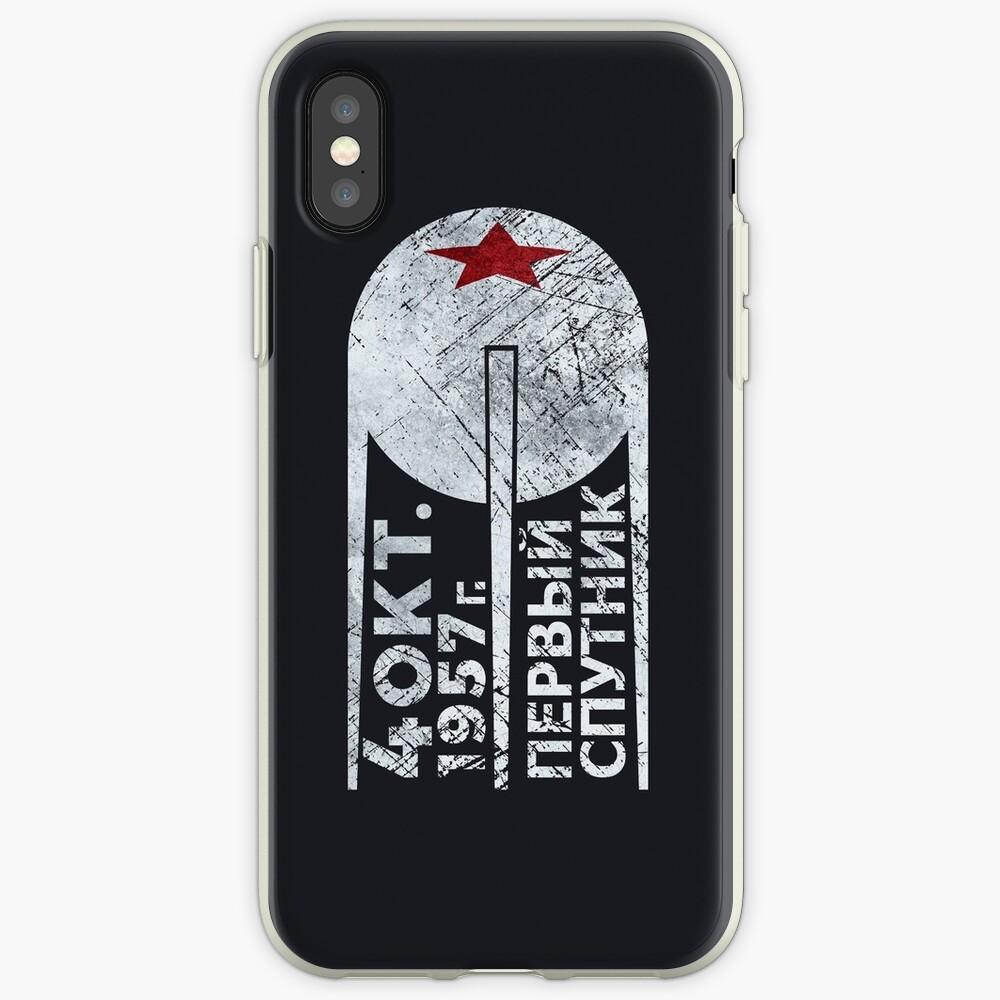 CCCP Sputnik 1 Erste Satellit - Silber Edition iPhone-Hülle & Cover