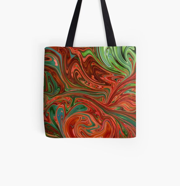 Colorful swirls All Over Print Tote Bag