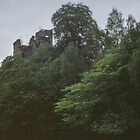 From beach to Invergary Castle, ruined 1746 by butcher Cumberland, Loch Oich Caledonian Canal Scotland 19840914 0031  by Fred Mitchell