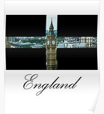 Póster bandera de Inglaterra