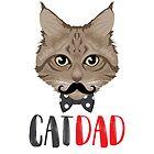 Cat Dad / Katzen Papa Vater by JH-Design