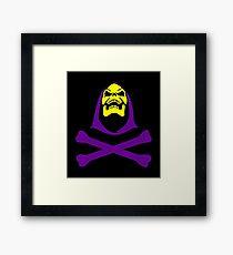 Skeletor, skull and crossbones Framed Print