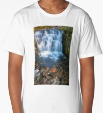 Waterfall along Sunbeam Creek in Mt Rainier National Park WA State Long T-Shirt
