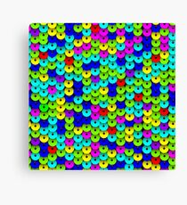 Multi-colored Sequins Seamless Pattern Canvas Print