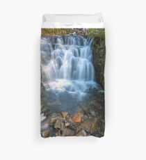 Waterfall along Sunbeam Creek in Mt Rainier National Park WA State Duvet Cover