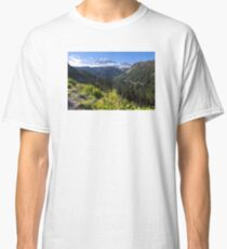 Scenic view of Mt Rainier in National Park WA State on a sunny day Classic T-Shirt