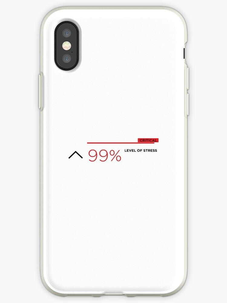 '99% stress' iPhone Case by pressstartprint