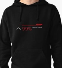 99% stress white Pullover Hoodie