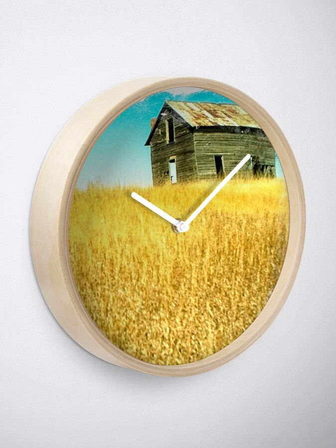 Alternate view of golden fields Clock